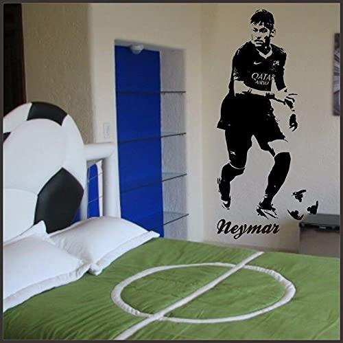 Fußball Sport PSG Paris FC Brasilien Fußball Star Spieler Neymar Junior Wandaufkleber Vinyl Auto Aufkleber Junge Fans Schlafzimmer Wohnzimmer Club Home Decor Wandbild
