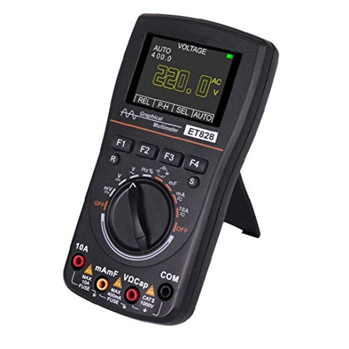 Rrunzfon Oszilloskop Multimeter Digital-ET828 Graphical 1MHZ 2.5MSPS Abtastrate 2 in 1 Schwarz