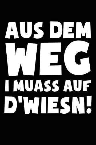 ...I muass auf d'Wiesn (bayerisch): Notizbuch / Notizheft für Oktoberfest Oktoberfest Wiesn Outfit Deko Party Hemd A5 (6x9in) dotted Punktraster