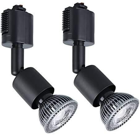 COOLWEST 配線ダクトレール用 ハロゲンスポットライト 7W LED電球付き 昼白色 ダクトレール専用器具 ライティングレール用 GU10口金 75W相当 2個入