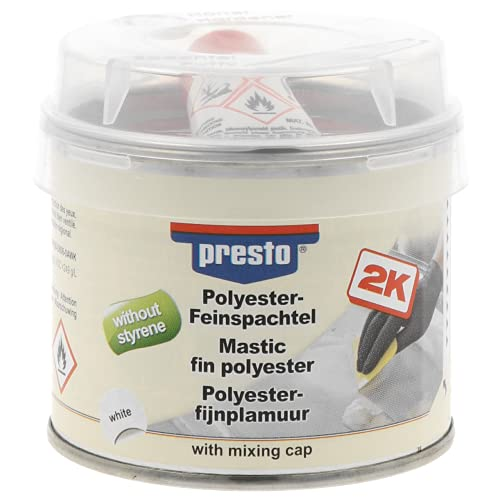 Sélection Brico-travo Presto Polyester FEINSPACHTEL HOCHEALASTISCH STYROLFREI Metall Holz Beton 250g