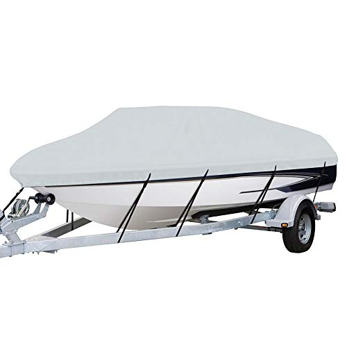 Marine Grade Trailerable Boat Cover Commercial Light Weight Fits V-Hull