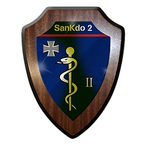 Copytec Wappenschild SanKdo 2 Sanitätskommando Diez Bund Bundeswehr Sani #22930