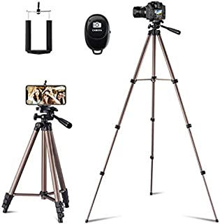 Flexible Tripod,127 cm Extendable Tripod Stand with Carrying Bag,Cell Phone Tripod with Wireless Remote,Universal Tripod f...
