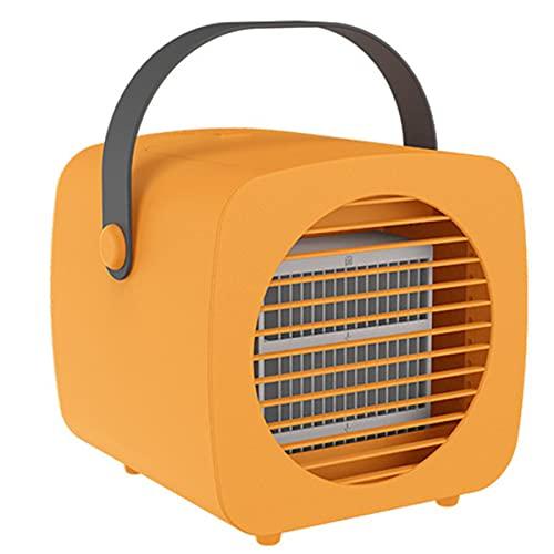 YGTMV 2021 Ventilador De Refrigerador De Aire De Protección, Mini Acondicionador De Aire con Humidificador De Rociado Ventilador De Refrigeración, para Oficina De Habitación Al Aire Libre,Naranja