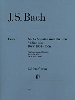 Sonatas and Partitas for Violin solo BWV 1001-1006 - (notated and annotated version) - violin - (HN 356)