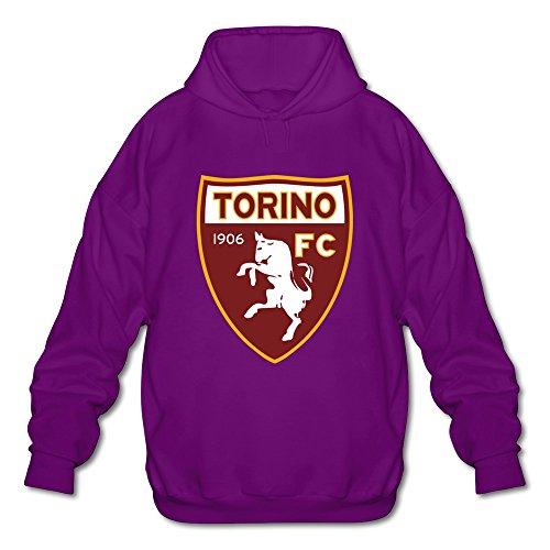 Men's Torino Logo 100% Cotton Hoodies Sweatshirt Purple Size L Personalized By Rahk