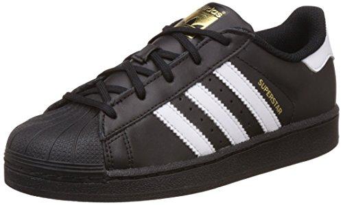 adidas Unisex-Kinder Superstar Sneaker, Schwarz (Cblack/Ftwwht/Cblack), 31.5 EU