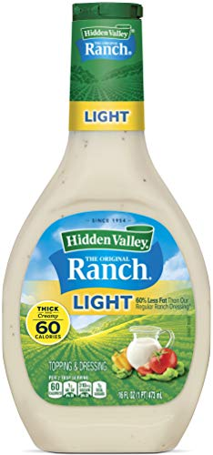 Hidden Valley Original Ranch Light Salad Dressing & Topping, Gluten Free - 16 Ounce Bottle (Package May Vary)