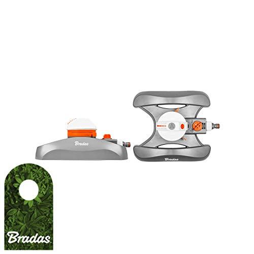 Bradas WL-Z14 Rasensprenger 450 qm, Regner, Sprinkler, Bewässerung, Kreisregner, Impulsregner, Grau, 10x10x5 cm