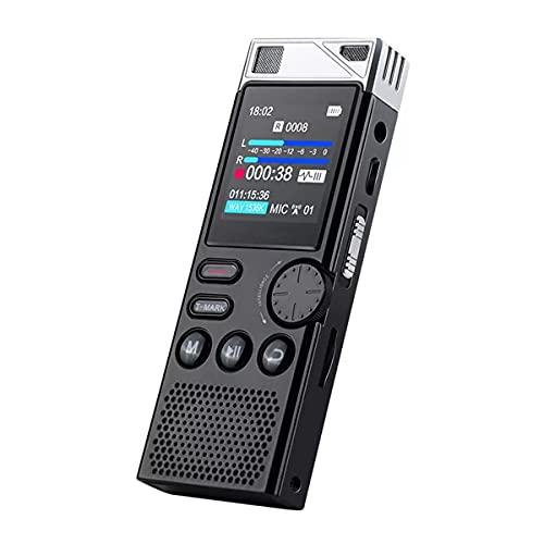 Dictáfono Profesional 8G, Grabadora De Voz con Reducción De Ruido HD, Reproductor MP3 HiFi Sin Pérdidas para Reuniones De Negocios, Deporte