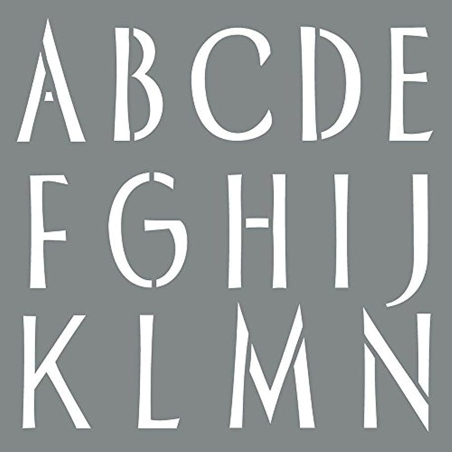 DecoArt Americana Decor 6 in. x 6 in. Sleek Alphabet Stencil