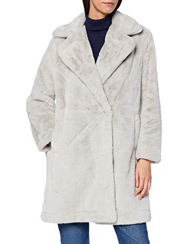 French Connection Banna Faux Fur Long Coat Abrigo de Piel sintética, Decadence, Extra Large para Mujer