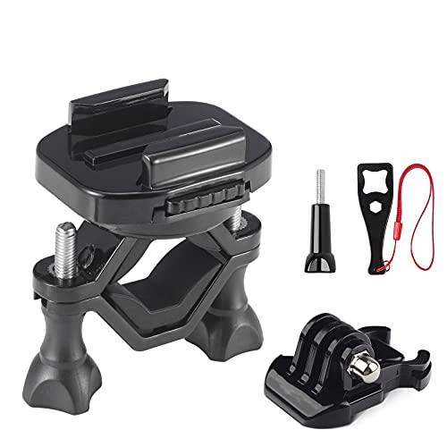 VKESEN Fahrradlenkerhalterung 360 Rotation Motorrad Halterung Action Cam Zubehör für GoPro Hero 9, 8,7, 6, 5, Max, Insta360, DJI Osmo Action und Anderen Action-Kameras