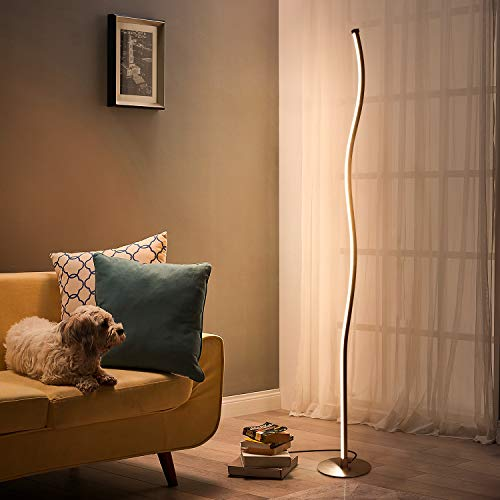 Albrillo Design LED Stehlampe Dimmbar -...
