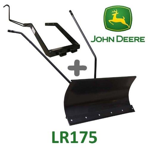 Hoja de nieve 118cm negra + adaptador para John Deere LR175
