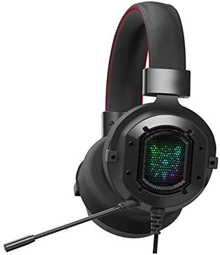 HAEEP FPS LED Gaming Headset mit weichen, atmungsaktiven Ohrenschützern, einstellbarem Mikrofon
