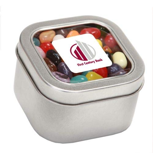 Best Deals! Jelly Belly Candy in Lg Square Window Tin