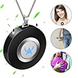 Mini Portable Air Purifier Wearable Air Purifier Necklace USB Air Cleaner Personal Negative Ion Generator Personal Air Filter Freshener for Adults,Kids, Home,Room(Black)