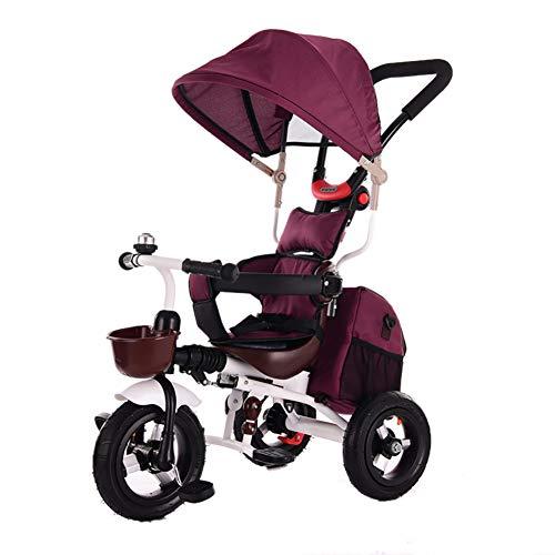 Bébé GUO@ Tricycle pour Enfants 1-3 Ans Porte Titanium Roue Vide Chariot LéGer Pliable 2-6 Ans Enfant Poussette