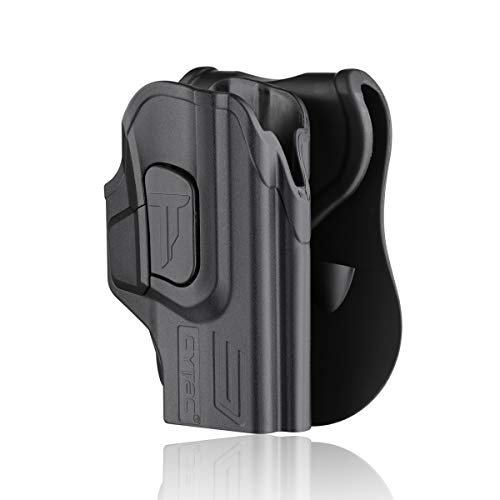 Glock 27 Holsters, OWB Paddle Holster for Glock 26 27 33 Gen 1 2 3 4, Outside The Waistband Carry Belt Holster with 360° Adjustable Cant -Right Handed
