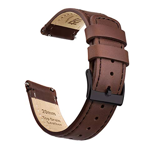 Ritche 20mm Quick Release Leather Watch Band Compatible with Samsung Gear S2 Watch Genuine Leather Watch Bands for Men