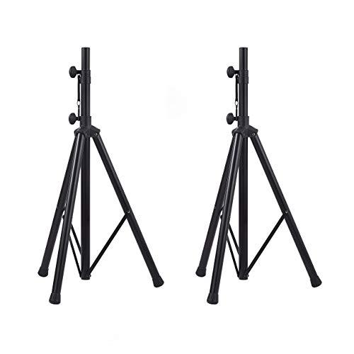 Amazon Basics - Verstellbarer Lautsprecherständer - 115 cm bis 180 cm Stahl 2er-Packung