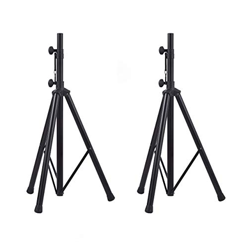 AmazonBasics Adjustable Speaker Stand - 3.8 to 6-Foot, Steel, 2-Pack