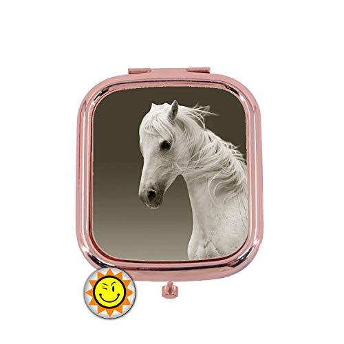 Miroir de Poche Femme Cadeau Fantaisie Original Cheval