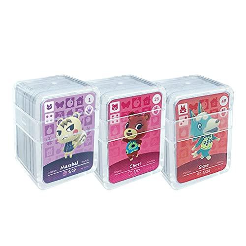 NFC Etikett Spielkarten Tag Game Cards für Animal Crossing. ACNH Karten Cards mit Kristall Hülle kompatibel mit Nintendo Switch / Wii U (1-72)