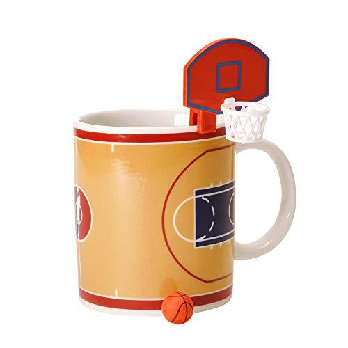 Basketball Kaffeebecher mit Korb und Ball - Tasse Kaffeetasse