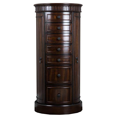 Hives and Honey Bailey Walnut Armoire Jewelry Cabinet