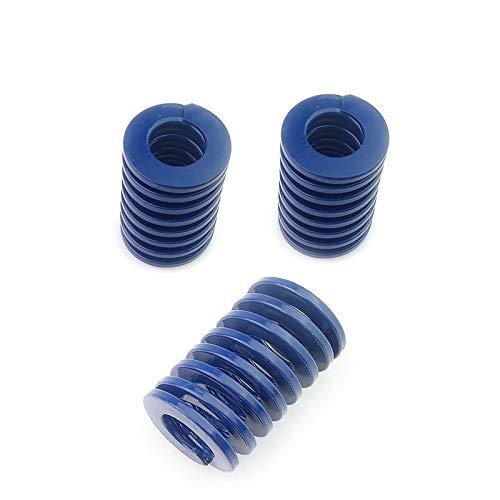 Blue Light Load Compression Spring Mould Die Spring Outer Diameter 20mm Long 25mm for Stamping Die Plastic Die(3 PCS)