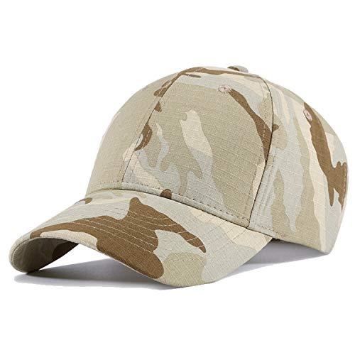 JEEDA Baseballmütze Sport Hut Einstellbare Kappe Mütze Unisex Flat Brim Baseball Camouflage Cap für Damen Herren Tarnung Kappe Camouflage Kappe