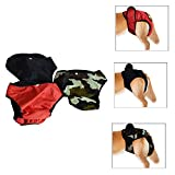URBEST Dog Period Panties, Washable Female Dog Diapers for Samll and Large Dogs 3 Packs (L, Multi-Colors)