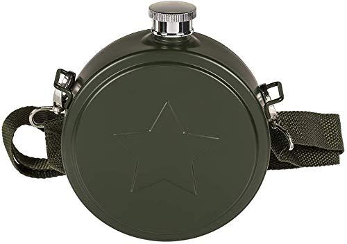 dkt Cantimplora Diseño Militar de Acero Inoxidable. Verde Oscuro. 530