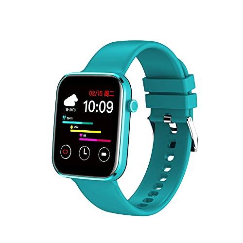 PYAIXF Reloj Inteligente, 1,69 Pulgadas Pulsera De Reloj Inteligente Esfera De Reloj Personalizada Frecuencia Cardíaca, Presión Arterial, Análisis De Oxígeno En Sangre Rastreador De-Blue