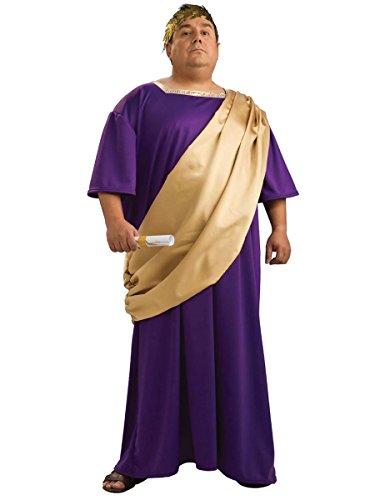 Generique - Römer-Kostüm mit Toga für Herren Plus Size Lila XXL