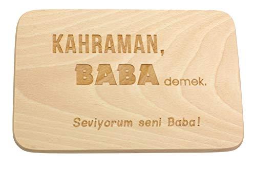 Spruchreif PREMIUM QUALITÄT 100{376646b822f584dd364c3aa1e51beab5fb53c865890c8c669d24b0b5575bf823} EMOTIONAL · Frühstücksbrettchen aus Holz · Brotzeitbrett mit türkischer Gravur · Geschenke für Papa · Holzbrettchen mit Herzausschnitt · Hediye Baba
