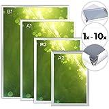 Cadre en Aluminium - Mural, Structure Légère, Protection PVC, Argenté, Différents Formats et Set au Choix (A1, A2, B1, B2) -...