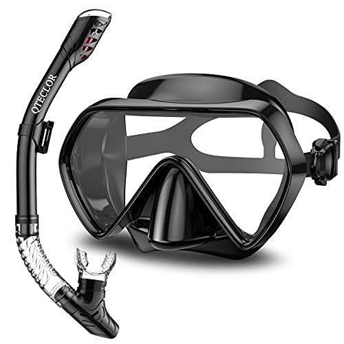 Snorkel Mask Set Snorkeling Gear – Dry Snorkel Set and Mask Kids...