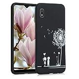 kwmobile Hülle kompatibel mit Samsung Galaxy A10 - Handyhülle - Handy Case Pusteblume Love Weiß Schwarz