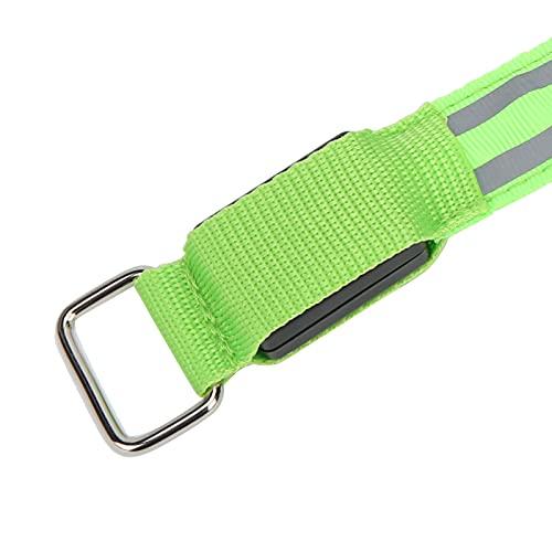 Liyeehao Brazalete LED para Correr, cómodo y fácil de Usar, Luces para Corredores, Cintas reflectoras, Correas para Caminar de Noche, Andar en Bicicleta y Correr(Green)