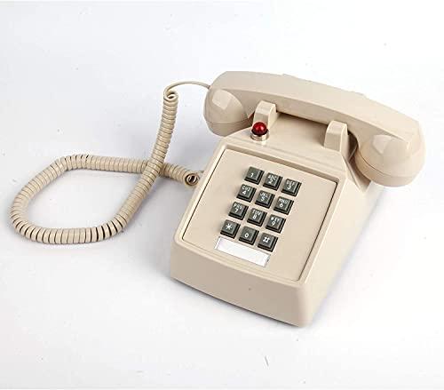 JDJFDKSFH Teléfono de Pared de una Sola línea con Control de Volumen, teléfono de Escritorio analógico con súper Anillos, teléfono por Cable, teléfono Fijo, con Campana mecáni