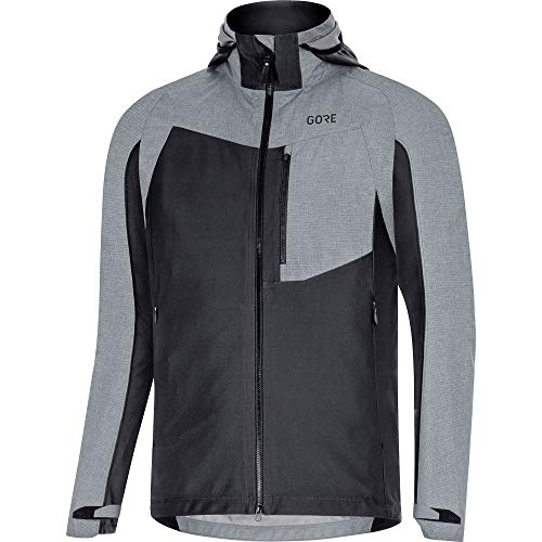 Gore Bike Wear Men's C5 GTX I Hybrid HD Jacket, Black/Terra Grey, Small