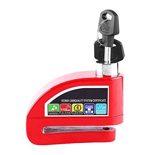 Sistema de alarma de seguridad Bloqueo de freno de disco de alarma Bloqueo de disco, Bloqueo de freno, para vehículos para bicicleta(red)