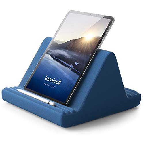 Tablet Pillow Stand, Tablet Holder : Lamicall Multi-Angle Soft Tablet Holder Dock for Bed, Compatible with iPad Pro 9.7, 10.5,12.9 Air Mini 4 3 2, Kindle, Nexus, Galaxy Tab, E-Reader - Royal Blue