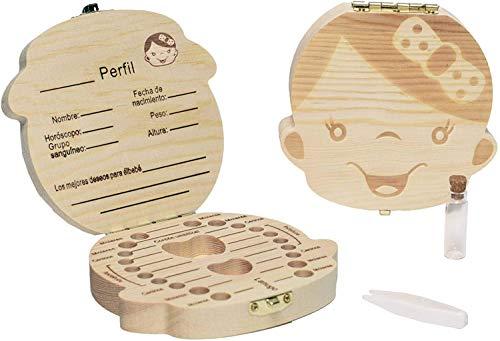 LA PUERTA MÁGICA Ratoncito Pérez + Caja dientes de leche + pinzas + botella esterilizadora + escalera + plato + queso + felpudo + llave + dibujo fondo de puerta + postal (Rosa Niña)