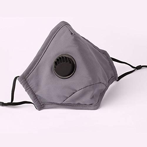 Mascarillas faciales reutilizables lavables, transpirables, antihumo y antipolvo, prevención de la contaminación, protección deportiva para bicicleta para correr o motocicleta (gris)