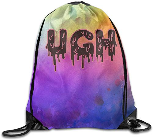 FIYOBQ Mochilas/Bolsas de Gimnasia Ugh Melt Trip Athletic Tote Travel Drawstring Bag